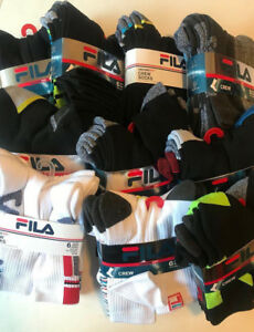 New-Fila-Men-s-Crew-Absorb-Dry-Sport-Athletic-Gym-Socks-6-Pairs