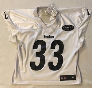 the best attitude ce621 8dfbc Details about 2018 #33 Trey Edmunds Pittsburgh Steelers Team Issued Nike  White Practice Jersey