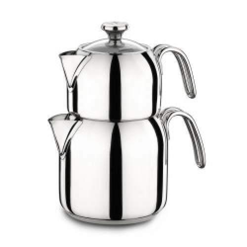 Korkmaz a047 Alia Théière Théière Tea Pot Caydanlik Sans Rouille & induction