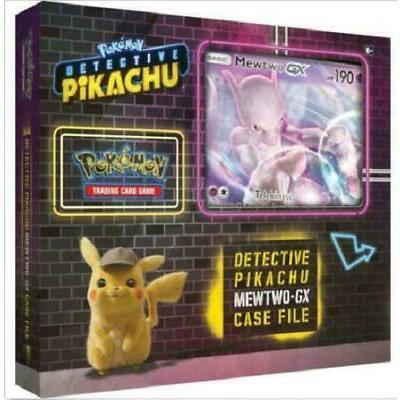 Pokemon TCG: Detective Pikachu Mewtwo GX Case File Box