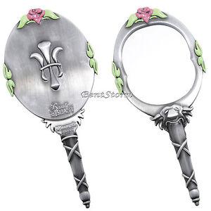 Disney Beauty Amp The Beast Metal Hand Mirror Flower Replica