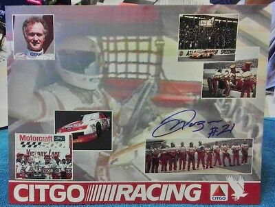 Morgan Shepherd Nascar Wood Bros Signed Autograph Post Card 1994 Citgo Racing Bracing Up The Whole System And Strengthening It Racing-nascar Hats