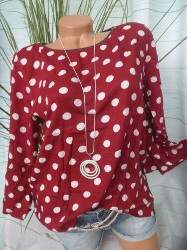 Chemisier shirt soulemate Taille M à XL rouge avec points 751