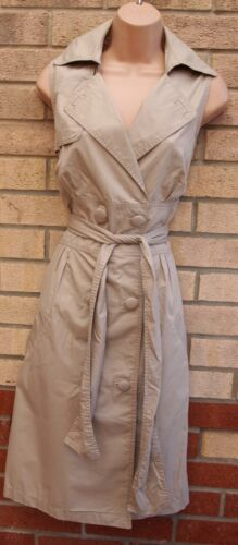 Beige Buttoned Trench M Belted 12 Dress A Sleeveless Shirt Next Formal T Line gdHnSw5xd