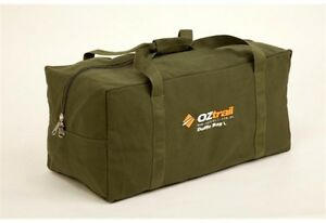 OZTRAIL-CANVAS-DUFFLE-BAG-X-LARGE-HEAVY-DUTY-GREEN-CARRY-CAMPING-OUTDOOR-TRAVEL