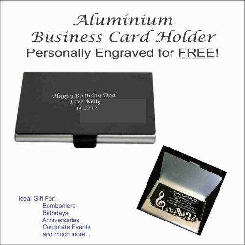 Aluminium Business Card Holder with FREE personalised engraving