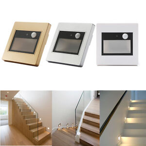 led wandeinbaustrahler wandleuchte treppen stufenlicht mit bewegungsmelder ebay. Black Bedroom Furniture Sets. Home Design Ideas