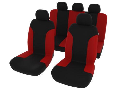 Asiento de coche universal referencias rojo negroKFZ protector asientos setya referencias