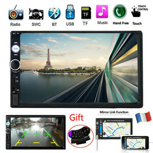 7-034-Double-2-DIN-Autoradio-Lecteur-Stereo-MP5-Bluetooth-FM-USB-AUX-Joueur-Video