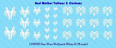 Star Wars Blue-gray Wolf Pack Waterslide Decals for 1//18-1//12 figures Wolfpack