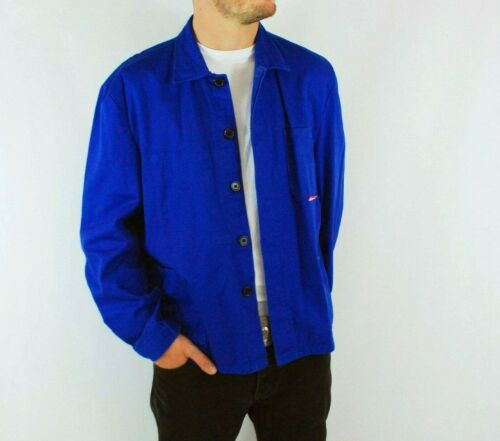 Vintage French Work CHORE Jackets - Royal/Cobalt B