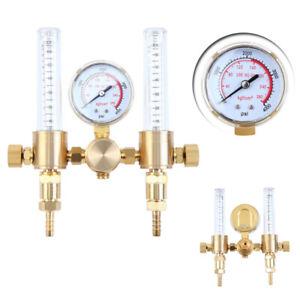 Ridgeyard Mig Tig Flow CO2 Flow Meter Regulator Gauge Gas Welder Dual Argon