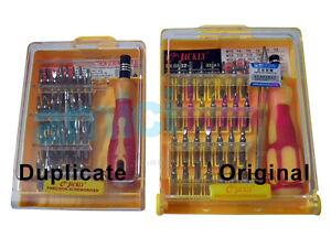 100% Original Jackly JK 6032 A 32 in 1 Tweezer & Screwdriver Set Repair Tool Kit