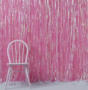Iridescent Pink Curtain Backdrop Hanging Party Room Decoration Ebay