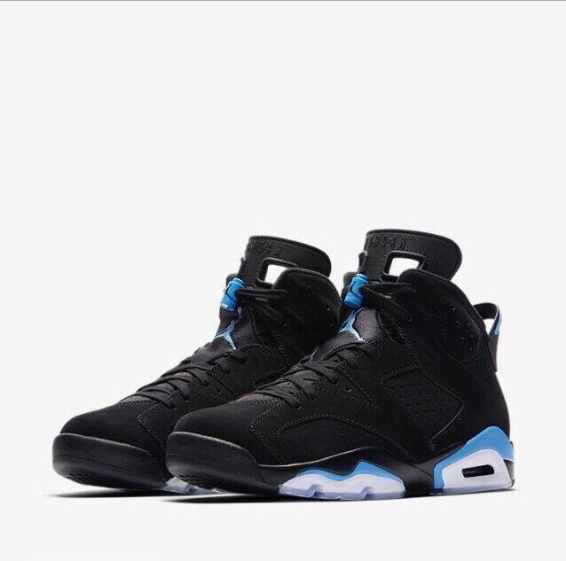 Air Jordan Jordan Jordan 6 Retro UNC nero University blu 384664-006 w Receipt Dimensione 5-14 636699