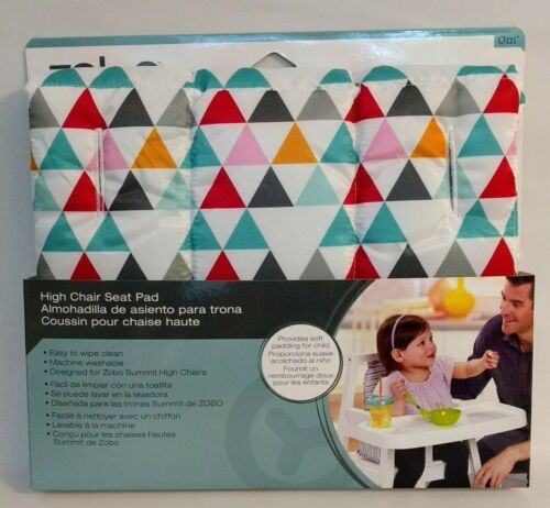 Zobo High Chair Seat Pad for Summit High Chairs triangles