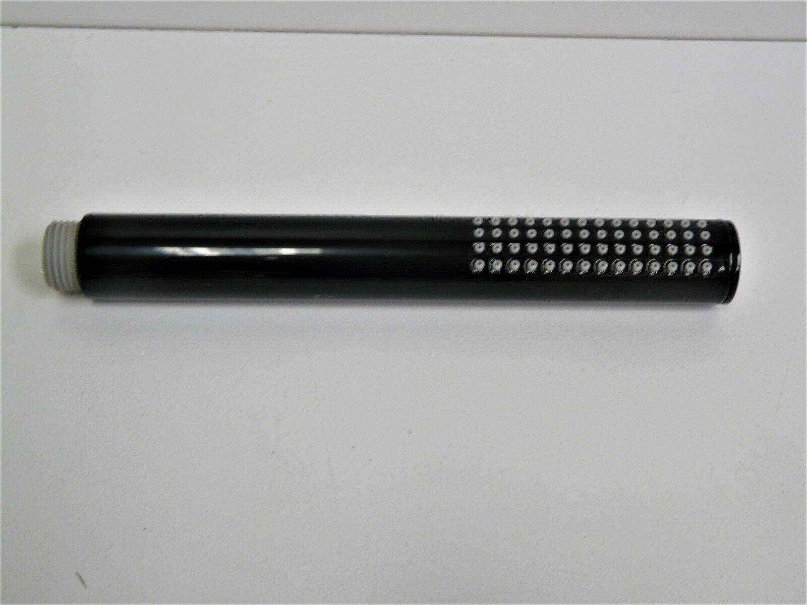 Handbrause Schwarz (RAL 9005), Stabhandbrause, Dusche, Brausekopf, Duschkopf