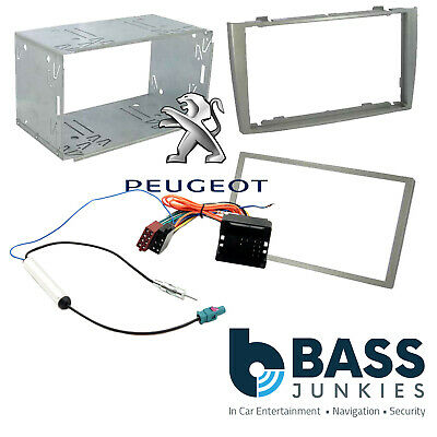 Peugeot 308 SW 2008 On Car Stereo Double Din GREY Fascia Plates Panel