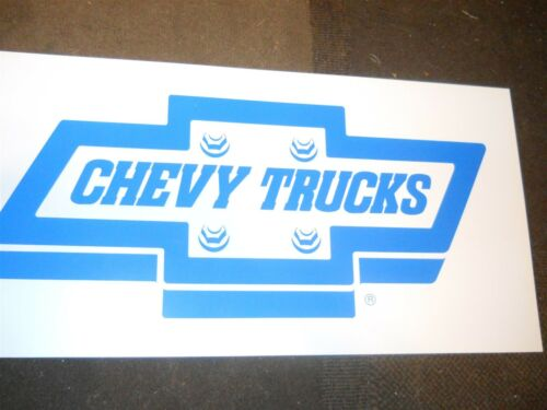 NOS 1990/'s CHEVROLET CHEVY TRUCKS ORIGINAL DEALERSHIP SHOWROOM WINDOW WALL SIGN