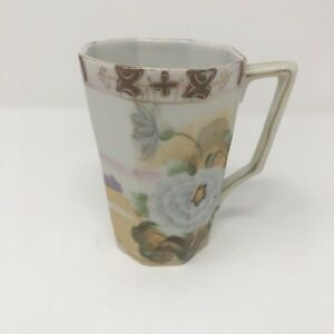 TE-OH-Nippon-Hand-Painted-Chocolate-Cup-Gold-Trim-Pre-1921
