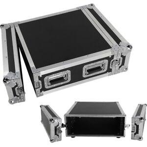 19-Inch-Space-Rack-Case-Single-Layer-Double-Door-4U-DJ-Equipment-Cabinet-Black