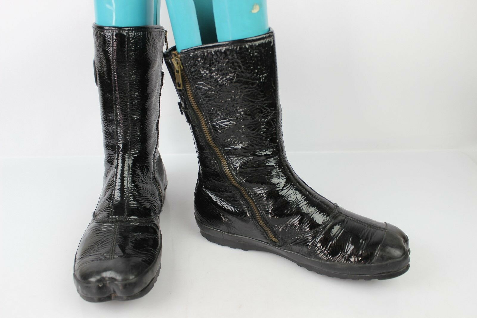 Leather boots Patent PALLADIUM   FR 37 GOOD CONDITION