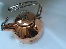 Chantal Classic Copper Hohner Harmonica Whistling Tea Kettle 1.8 Qt SL37-19CP