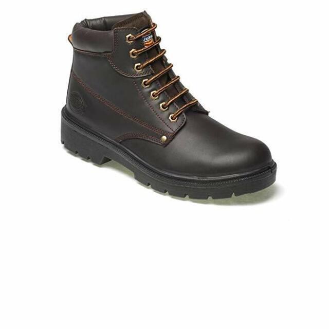 Dickies Antrim Men's Safety Work Boots Size UK 7 - Brown