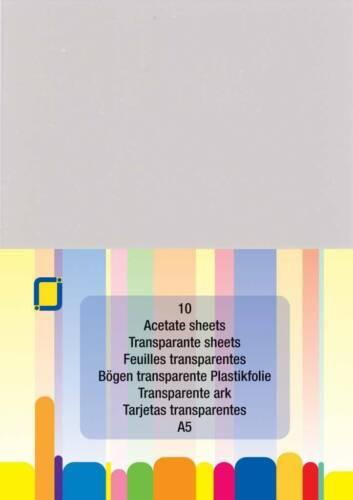 FREE P/&P 10 sheet pack A5 JeJe Acetate