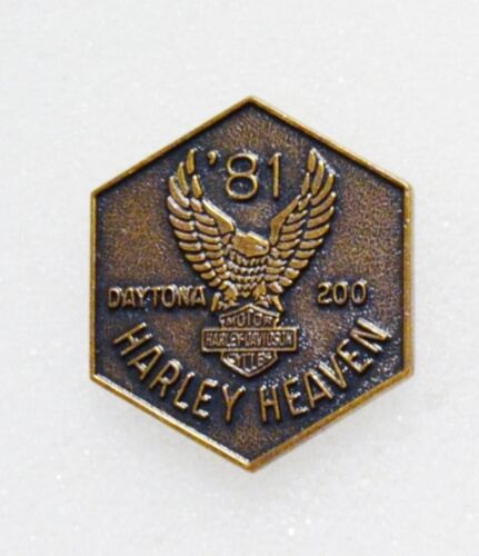 Vintage 1981 Harley Davidson Harley Heaven Daytona 200 Bike Week  Pin
