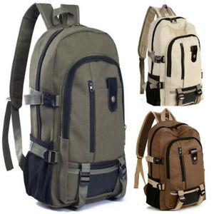 Women-Men-Casual-Fashion-Simple-Double-Shoulder-Canvas-Backpack-Schoolbag-Hot