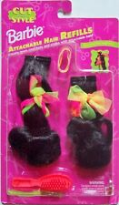 Barbie Cut and Style: ATTACHABLE BLACK HAIR REFILLS #13072 (1994) New, Sealed!