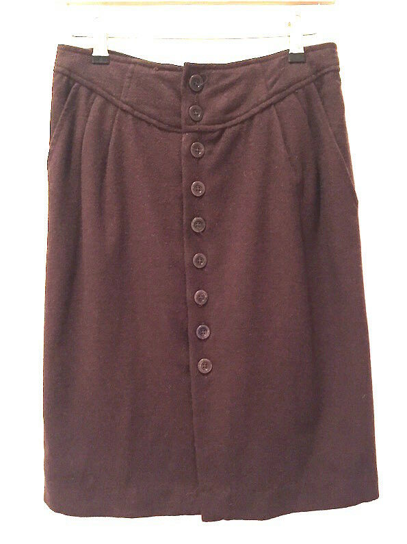 Catherine Malandrino (Yellow Label) 10-12 Brown Skirt 95% Wool Silk Lining