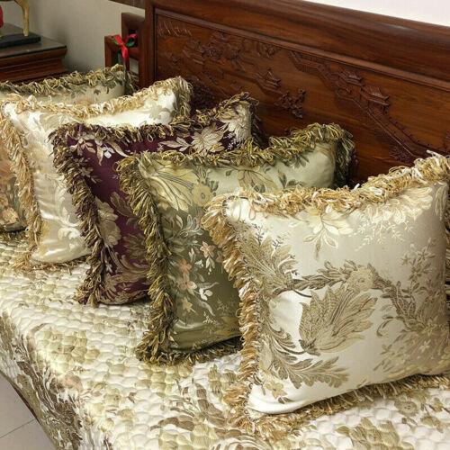 Quasten Kissenbezug Blumenmuster Kissenbezug nur Stickerei Retro Bettwäsche Sofa