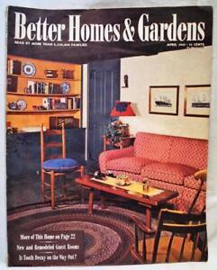 Image Is Loading Better Homes Amp Gardens Magazine April 1945 Vintage