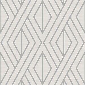Papier-Peint-Geometrique-Blanc-Argent-Poire-Arbre-Studios-UK30509-Metallique