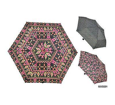 KS marques uu0251 Mesdames 3 section Supermini parapluie assortiment aztec rose designs