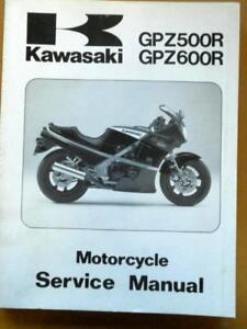 kawasaki service manual 85 89 zx500 zx600 gpz500 gpz600 ebay rh ebay com Kawasaki GPZ 750 Kawasaki GPZ 750