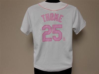 New-dirty Jim Thome Weißes Sox Jugendliche S 8/10 Majestätisch Trikot 25ov Baseball & Softball