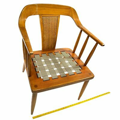 Prime Vintage Mid Century Tomlinson Sophisticate Arm Chair Walnut Curved Back Modern Ebay Machost Co Dining Chair Design Ideas Machostcouk