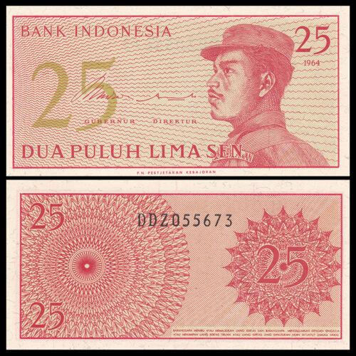 Indonesia 25 Sen 1964 UNC P-93
