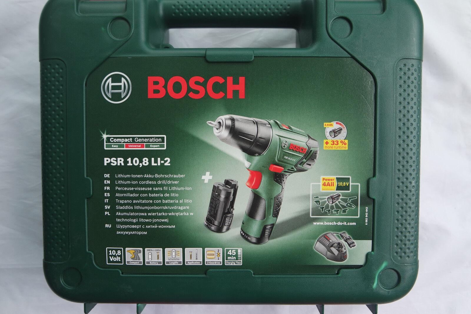 Bosch PSR 10,8 LI-2 - 2 Akku-Bohrschrauber