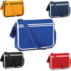 ad7b02df5 Image is loading BAGBASE-FUNKY-RETRO-MESSENGER-BAG-5-GREAT-COLOURS