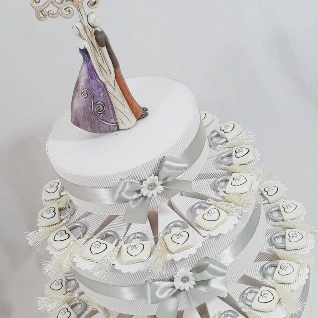 Bomboniere Per Matrimonio On Line.Bomboniera Matrimonio Nozze Sposi Paletta Torta Porcellana