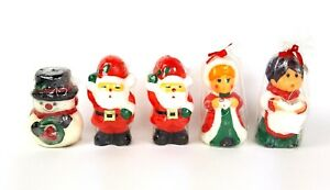 Vintage Christmas Candles.Details About Vintage Christmas Candles Santa Snowman Carolers Wax Figurine Decoration Holiday