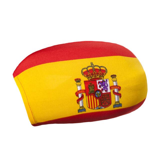 2er Set Spiegelflagge Spanien Fahne für Außenspiegel PKW Car