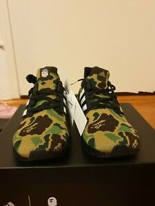 no sale tax best service finest selection Details about Bape x Adidas Consortium Ultra Boost Green Camo Size 10 F35097