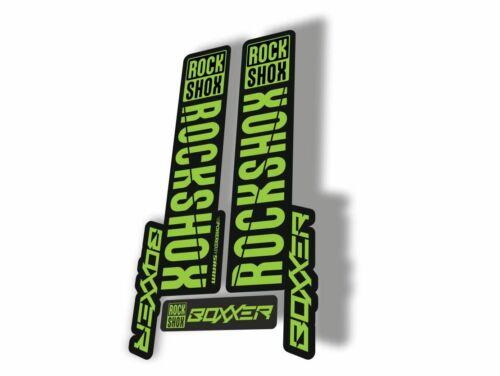 Rock Shox BOXXER 2019 Mountain Bike Cycling Decal Kit Sticker Adhesive Green