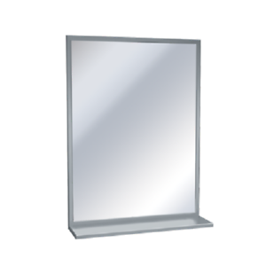 Image Is Loading Asi 06051836 Stainless Steel Angle Frame Mirror W