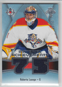 2015-16-UD-ULTIMATE-ROB-LUONGO-JERSEY-99-MATERIAL-ACHIEVEMENT-GAME-USED-Panther